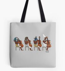 Ancient Cellists Tote Bag
