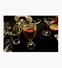 Beer glass Photographic Print