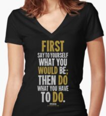 Do What You Have To Do T-shirts & Homewares Women's Fitted V-Neck T-Shirt