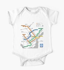 STM Montreal Metro - light background One Piece - Short Sleeve