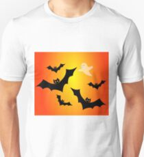 Bats and a Ghost Unisex T-Shirt