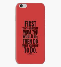 Do What You Have To Do Black Text T-shirts & Homewares iPhone Case