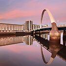 Sunset over the Clyde by Grant Glendinning