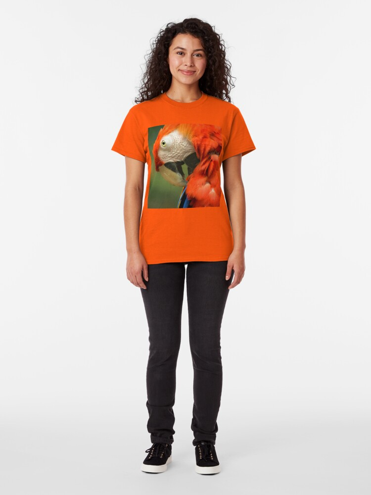 Alternate view of Red Parrot, the Scarlet Macaw – portrait Classic T-Shirt