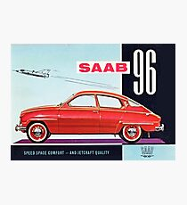 Saab 96 Vintage Classic Sweden Photographic Print