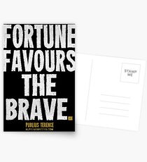 Fortune Favours The Brave T-shirts & Homewares Postcards