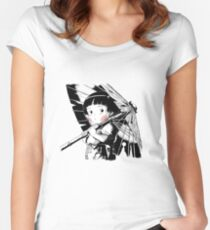 Grave of fireflies #2 Women's Fitted Scoop T-Shirt