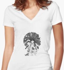 Grave of fireflies Women's Fitted V-Neck T-Shirt