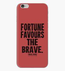 Fortune Favours The Brave Black Text T-shirts & Homewares iPhone Case