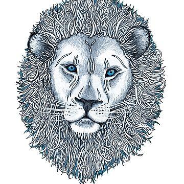 Blue Eyed Lion von micklyn