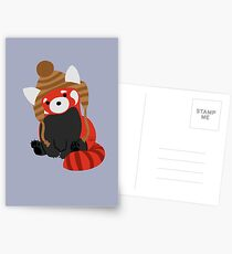 Collin the Beanie-Wearing Red Panda Postcards