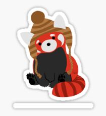 Collin the Beanie-Wearing Red Panda Sticker