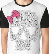 Poodle Sugar Skull Graphic T-Shirt
