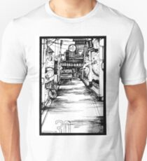 Manga Street Breeze Panel Print T-Shirt