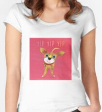 YIP YIP YIP Women's Fitted Scoop T-Shirt