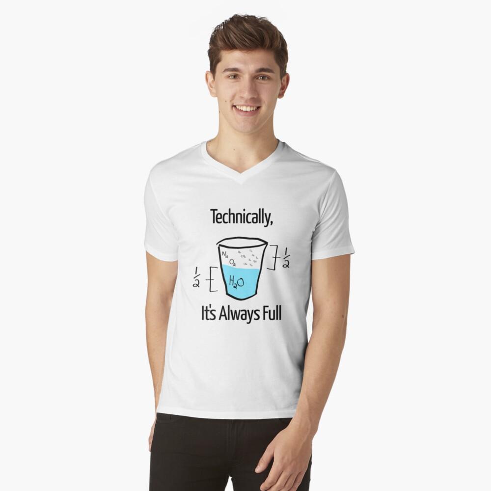 Die Wissenschaft ist optimistisch T-Shirt mit V-Ausschnitt