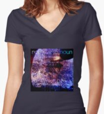 Noun Verb Noun – Zen Locust Women's Fitted V-Neck T-Shirt