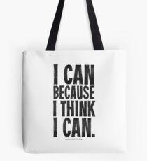 I Think I Can Black Text T-shirts & Homewares Tote Bag