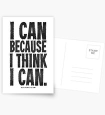 I Think I Can Black Text T-shirts & Homewares Postcards