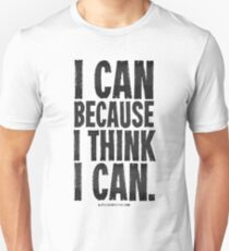 I Think I Can Black Text T-shirts & Homewares Unisex T-Shirt