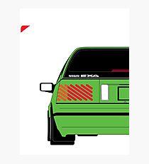 Nissan Exa Sportback - Greeb Photographic Print
