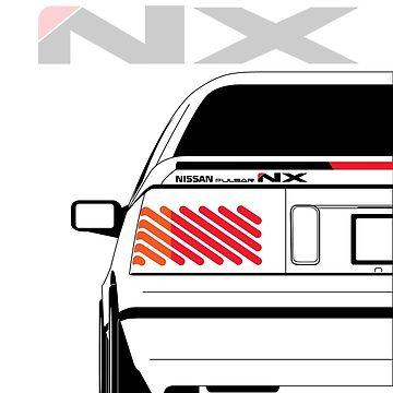 Nissan NX Pulsar Coupe - White by SEZGFX