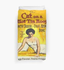 Vintage poster - Cat on a Hot Tin Roof Duvet Cover