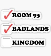 Halsey Checklist Sticker