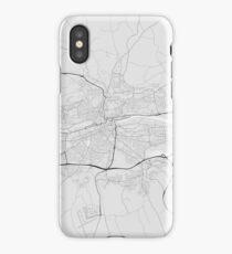 Cork, Ireland Map. (Black on white) iPhone Case/Skin