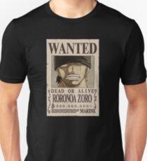 <ONE PIECE> Roronoa Zorro Wanted Unisex T-Shirt