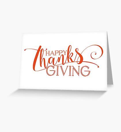 Happy ThanksGiving Modern Typography Design Greeting Card