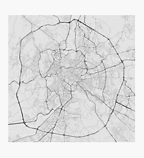 Rome, Italy Map. (Black on white) Photographic Print