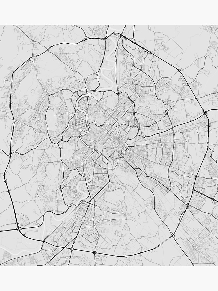 Rome, Italy Map. (Black on white)   Photographic Print on large map of rome, best map of rome, map of greece and rome, outline map of rome, a map of rome, road map of rome, detailed map of rome, map with rome, map of center of rome, tourist map rome, world map of rome, metro lines map of rome, old map of rome, art map of rome, interactive map of rome, prati area rome, downloadable map of rome, women of rome, walking map of rome, green map of rome,