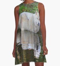 Wolf Reflection A-Line Dress