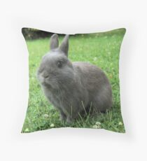 Billy the Rabbit Throw Pillow