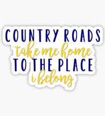 Country Roads Sticker