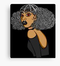 Goth Spider Queen Canvas Print