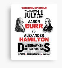 Hamilton Vs Burr Canvas Print
