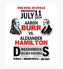 Hamilton Vs Burr Photographic Print