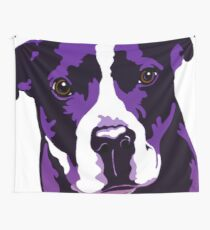 Dante The Staffy Purple  Wall Tapestry
