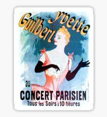 Vintage poster - Yvette Guilbert Sticker