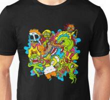 Monster Mayhem Graffiti Splash Mountain Unisex T-Shirt