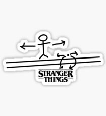 STRANGER THINGS THE ACROBAT AND THE FLEA  Sticker