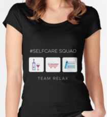Self Care Squad - Team Relax Women's Fitted Scoop T-Shirt