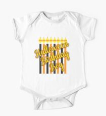 Halloween Birthday Boy with Candles One Piece - Short Sleeve