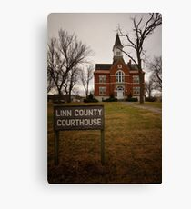 Linn County, Kansas, Courthouse Canvas Print