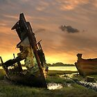 Wrecked boats. by Irene  Burdell