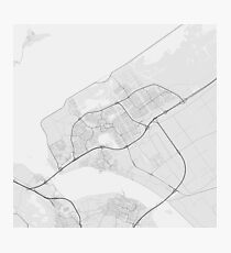 Almere, Netherlands Map. (Black on white) Photographic Print