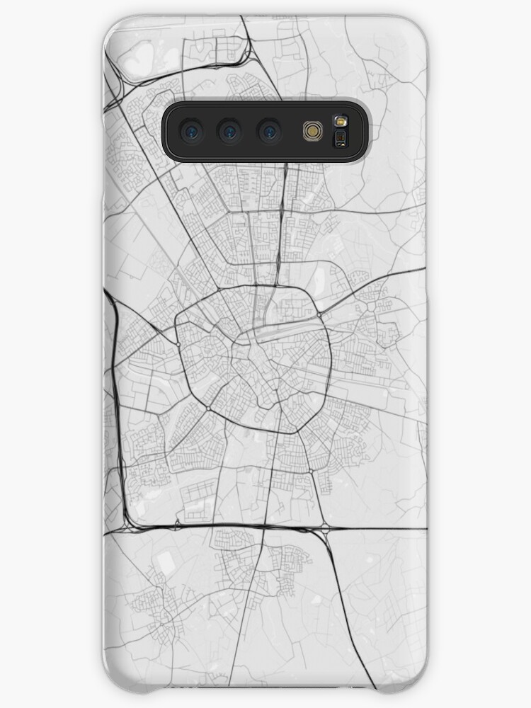\'Eindhoven, Netherlands Map. (Black on white)\' Case/Skin for Samsung Galaxy  by Graphical-Maps