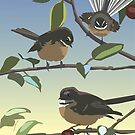 Three fantails by contourcreative